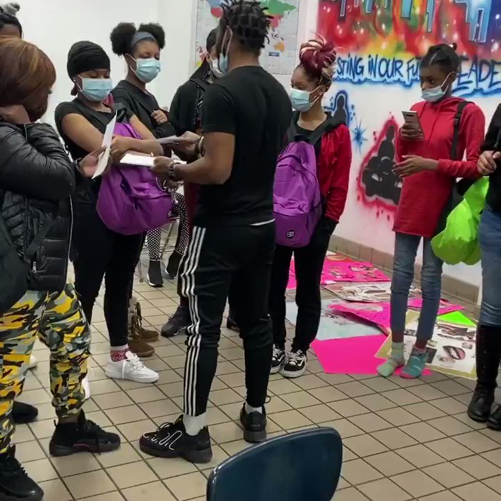 TONIGHT WE #SURPRISED 10 #GIRLS from FORGETMEKNOT youth services with $100 a piece after our vision board party for our new GIRLS NIGHT: the Beauty in me YOUTH PROGRAM for young women currently experiencing homelessness here in Philadelphia @SteveHarveyFM