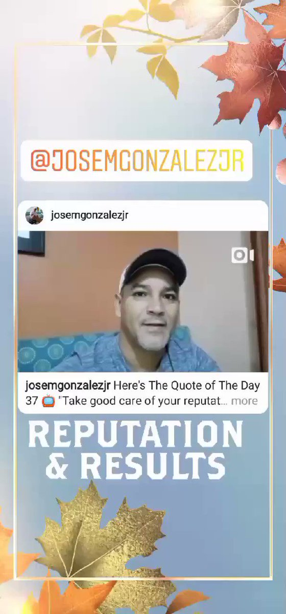 """Here's The Quote of The Day 37📺""""Take good care of your reputation. It will live longer than youself""""#JoséMGonzálezJr #Reputation #HereIsTheQuoteOfDay #Vision #NoSubstitute #HardWork  #PayThePrice #MaxYour1Life #JoseMGonzalezJr #ReputationWillLiveLonger #BeEthical @JoseMGonzalez"""