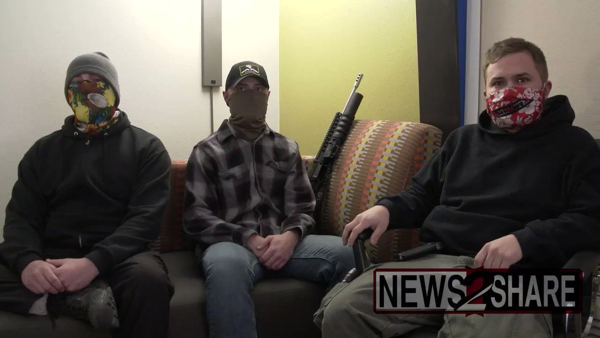 """INTERVIEW: Tonight, I interviewed three """"boogaloo boys"""" and original organizers of the armed rallies taking place Sunday at state capitols.  @henrylocke16, @classcountryboi, and one who wanted to remain fully anonymous will be participating tomorrow, and went on camera."""