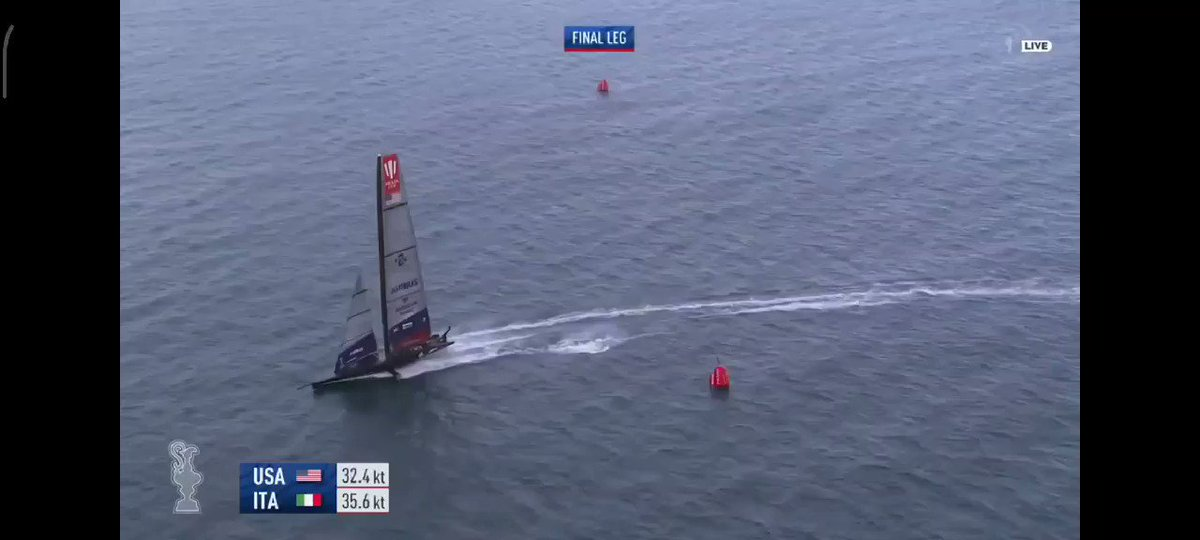 American Magic takes flight 🥺 all on board are OKAY! #AmericasCup2021 #AmecianMagic they really needed this win https://t.co/RzgguMs1HQ