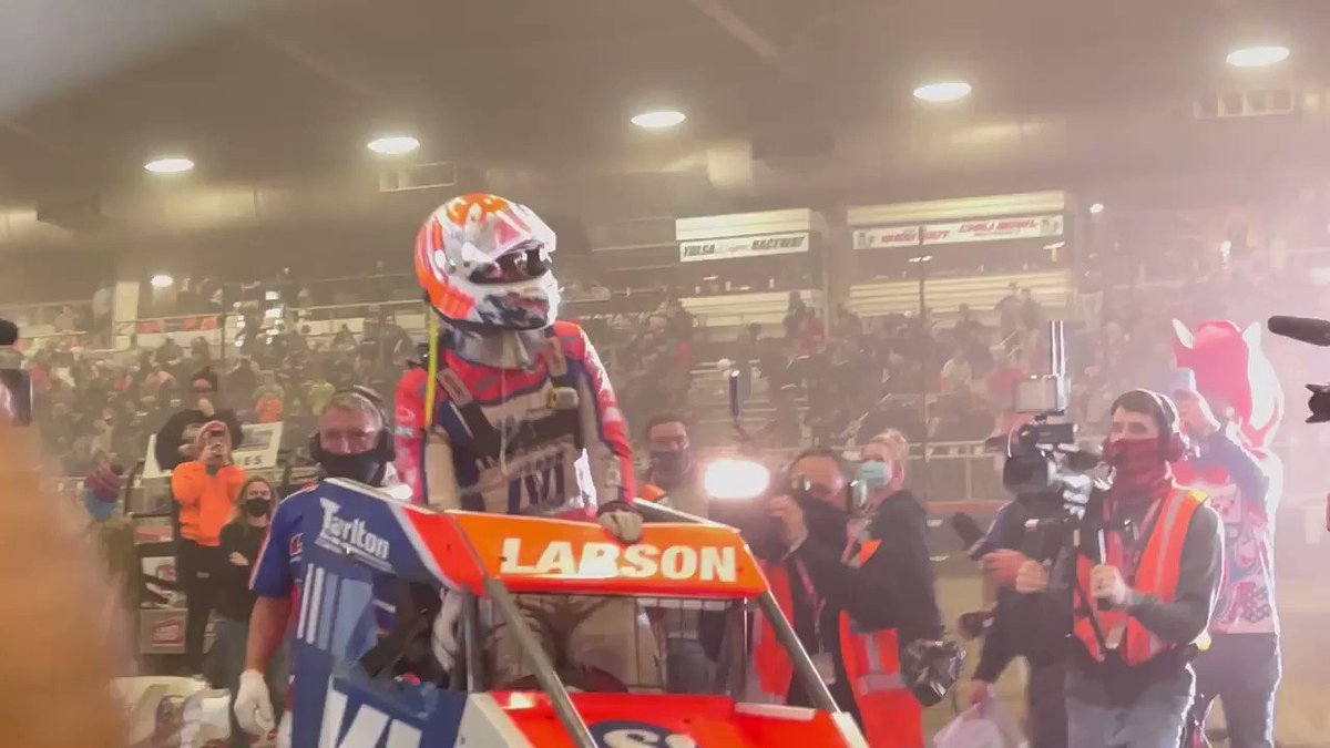 Congrats to @KyleLarsonRacin on going back to back. #Autoweek #ChiliBowl2021   🎥 : @DB3Inc