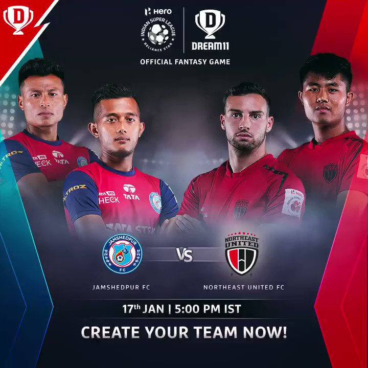 Couple of exciting games coming your way in the #HeroISL today 👌  Match 1 - @JamshedpurFC 🆚 @NEUtdFC  Match 2 - @FCGoaOfficial 🆚 @atkmohunbaganfc   Download the app and create your #Dream11. Click: . #LetsFootball #JFCNEU #FCGATKMB @IndSuperLeague