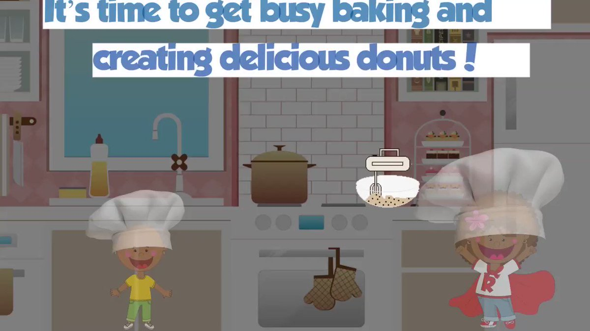 Happy Sunday! Are you ready to help Reba and Cousin Kyrie make donuts? #Animaton #RebaToTheRescue #SundayMotivation  #HomeSchooling