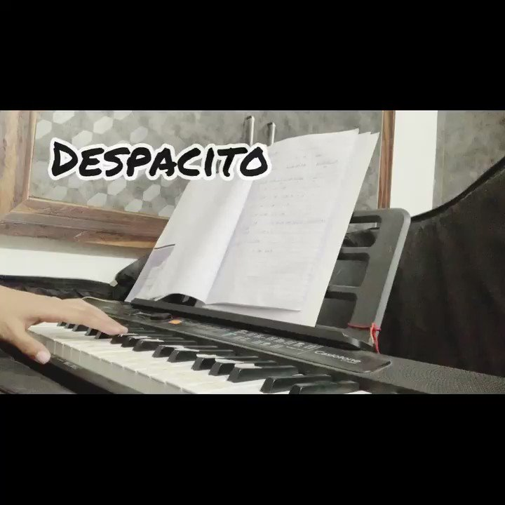 One good thing about music ,when it hits you , YOU feel no pain.🎼🎹 #despacito by @LuisFonsi played on piano by Meeee.😊 just a small try ,please listen it and share your views ..my eyes on yourrr thoughts .