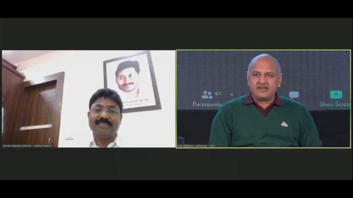 SHARE MAX  Big Statement : Two education ministers who r workin seriously on #education from different political parties should work together to resolve unique/similar challenges for #IndianEducationSystem  ~ @Minister_Edu @msisodia at @DelhiEduConf to AP Edu Min @AudimulapSuresh