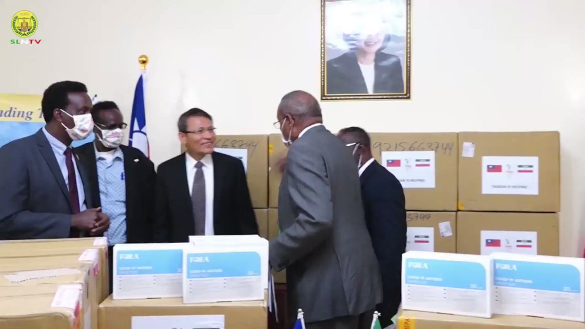 Taiwan Embassy in Somaliland donated medical equipment of Covid-19 to the Republic of Somaliland Ministry of Health