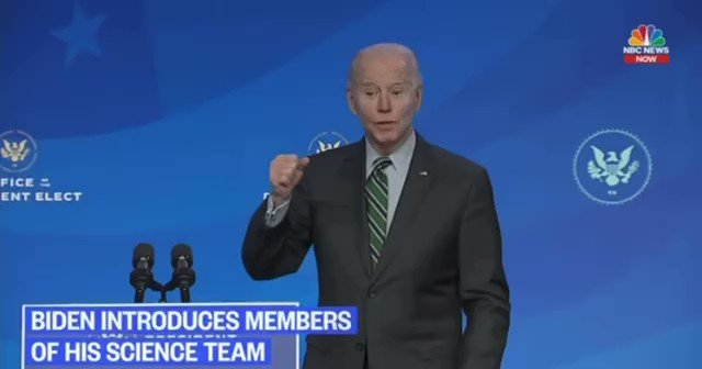 "In the ""unedited"" video Biden was asked if there was a chance he wouldn't get inaugurated and he didn't answer.   ""Is there any scenario where you would not be taking the oath outside on Wednesday?""  Still odd behavior!"
