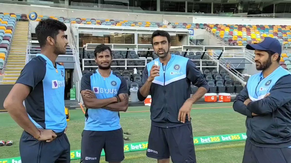 This interaction is all heart ❤️ courtesy @ashwinravi99 & @Natarajan_91   🎙️I am happy at the moment. Never expected to play a Test for India on this tour: Natarajan