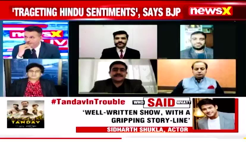 #Tandav is about anti-nationalism, anti-religion, communal talk, insulting Dalits & inciting violence.    The sole motive of web series Tandav is to shame hindu religion & portray hindu deities in the wrong way.  Law must take its course   With Sri @malhotravineet7 ji on @NewsX