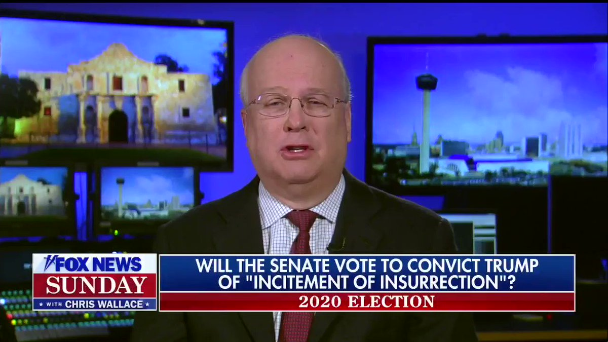 Karl Rove says if Rudy Giuliani defends Tr**p he would ensure that more than 17 Republicans vote to convict him.  #CapitolRiots 05