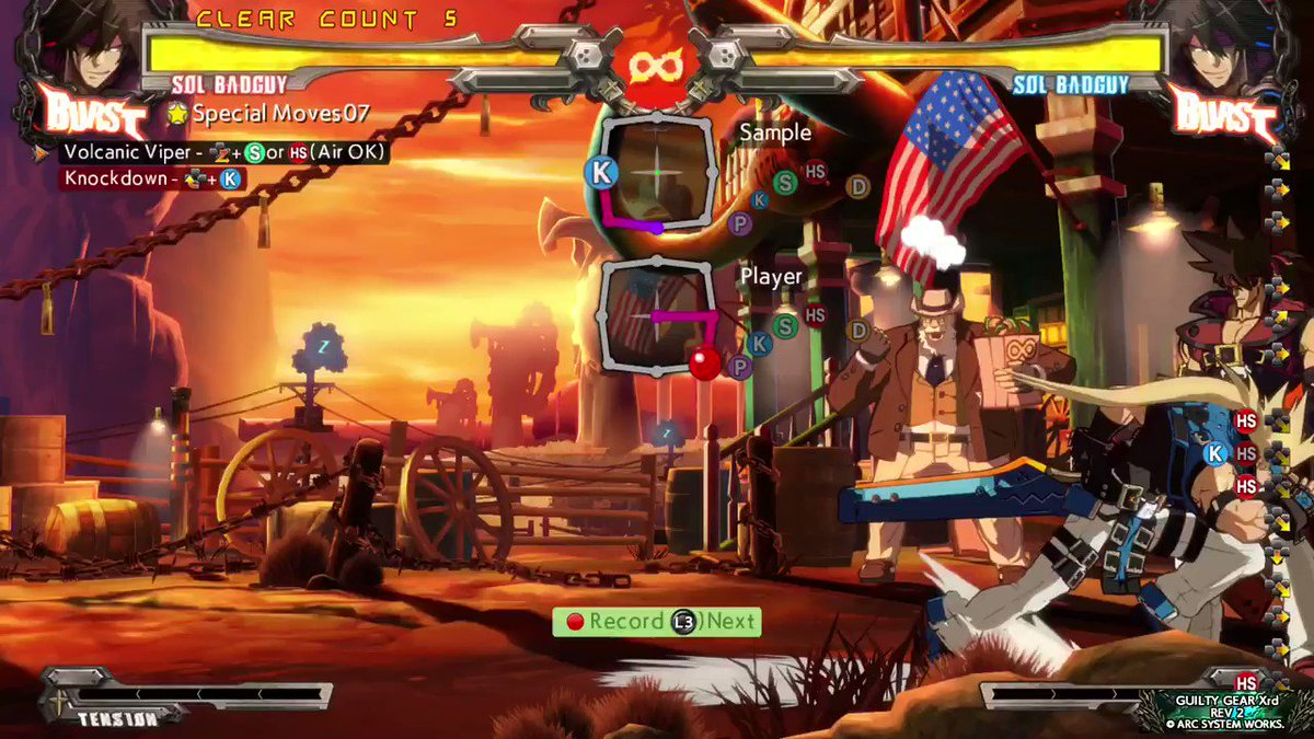 Day 2 of practice is off to a great start, just performed Sol's first 7 combos 10 times! #PS5Share, #GuiltyGearXrdREV2