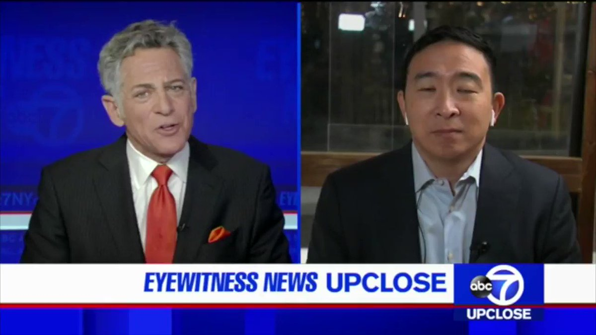 ABC7 with @billritter7: @AndrewYang says NYC must be the fastest city to rebuild from COVID, and will utilize a smartphone app that verifies vaccination to boost confidence in going out safely. This is how Broadway, sports, restaurants, and movie theaters can and will come back.