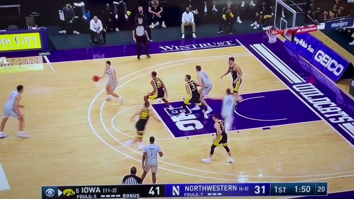"Pete Nance hits the three. Ian Eagle's call: ""Nance lines it up. Hello friends.""  Classy hat tip to CBS colleague, the legendary Jim Nantz (no relation to Pete)"