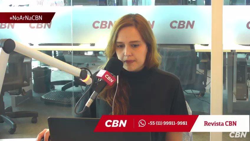 a jornalista da CBN quando anunciaram a aprovação da vacina