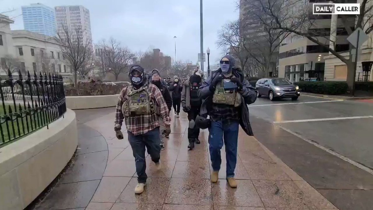 Armed militia show up at a bunch of state Capitols😳. The next 3 days are going to be FASCINATING👍. The climatic end of the movie is FINALLY HERE😲! Get out your popcorn out because this is all coming to a head🇺🇸
