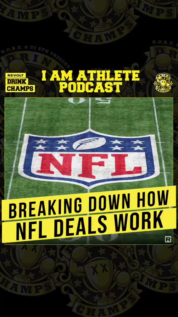 Breaking down #NFL deals 🏈✍🏿  @BMarshall, @FredTaylorMade & @OfficialCrowder from @IAMATHLETEpod join the gang as they tap into the sports world, politics, the #BLM movement & more 🥃🏆 @Drinkchamps @noreaga @djEFN   Watch now 👇🏿