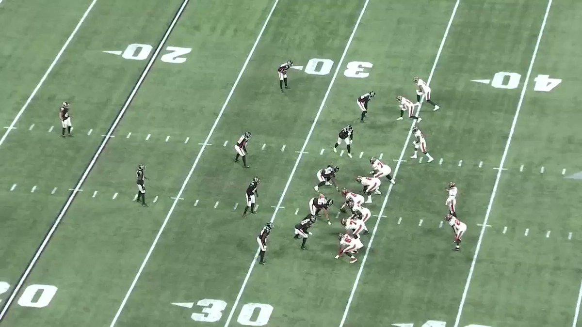 More from @NFLMatchup —   #Bucs-#Saints tonight...  Tom Brady will see 2-Man coverage from Dennis Allen's defense — with aggressive safeties over the top.   Here's one way Tampa can occupy & widen the safeties — to open up the middle of the field.   @gregcosell @NFLFilms