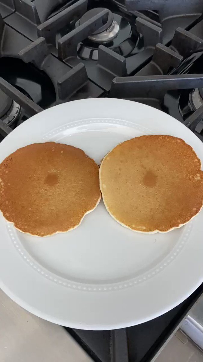 I don't know why my pancakes turned out like this.  They look familiar 👀