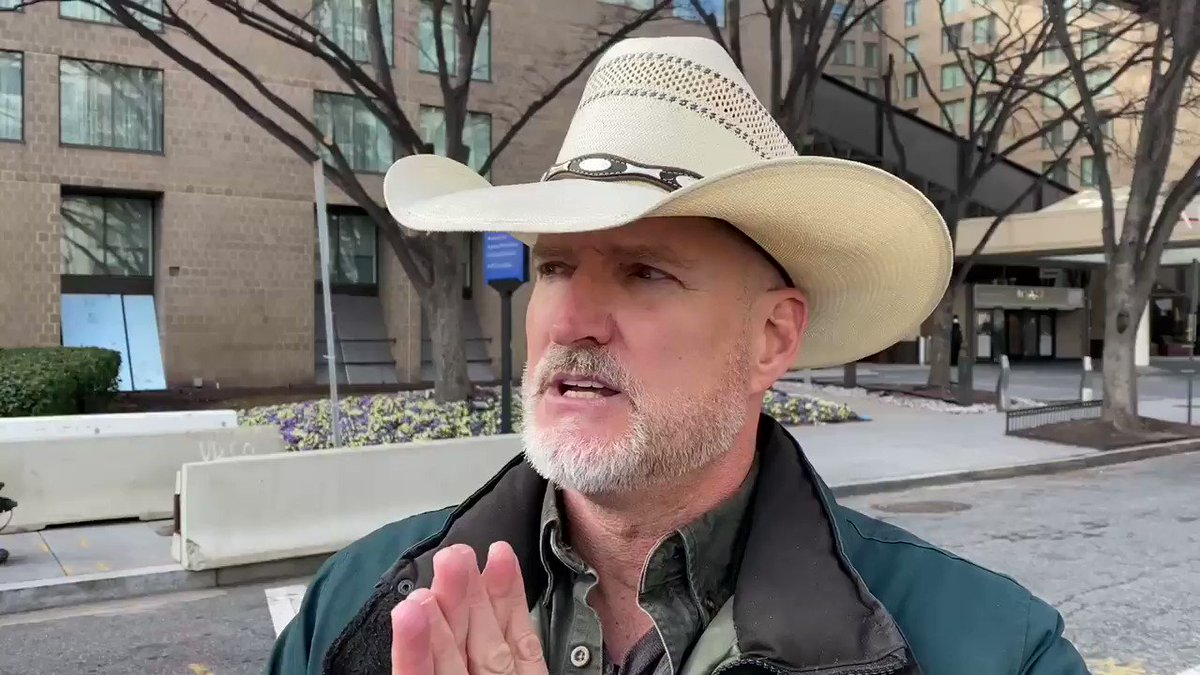 """Trump Supporter: Jan. 6 was the """"great awakening."""" """"Now white people are being called terrorists because they're Republicans or support President Trump. I'm experiencing it because I'm being called a terrorist and I'm not a terrorist, because I wear a cowboy hat"""" -Trump Supporter"""