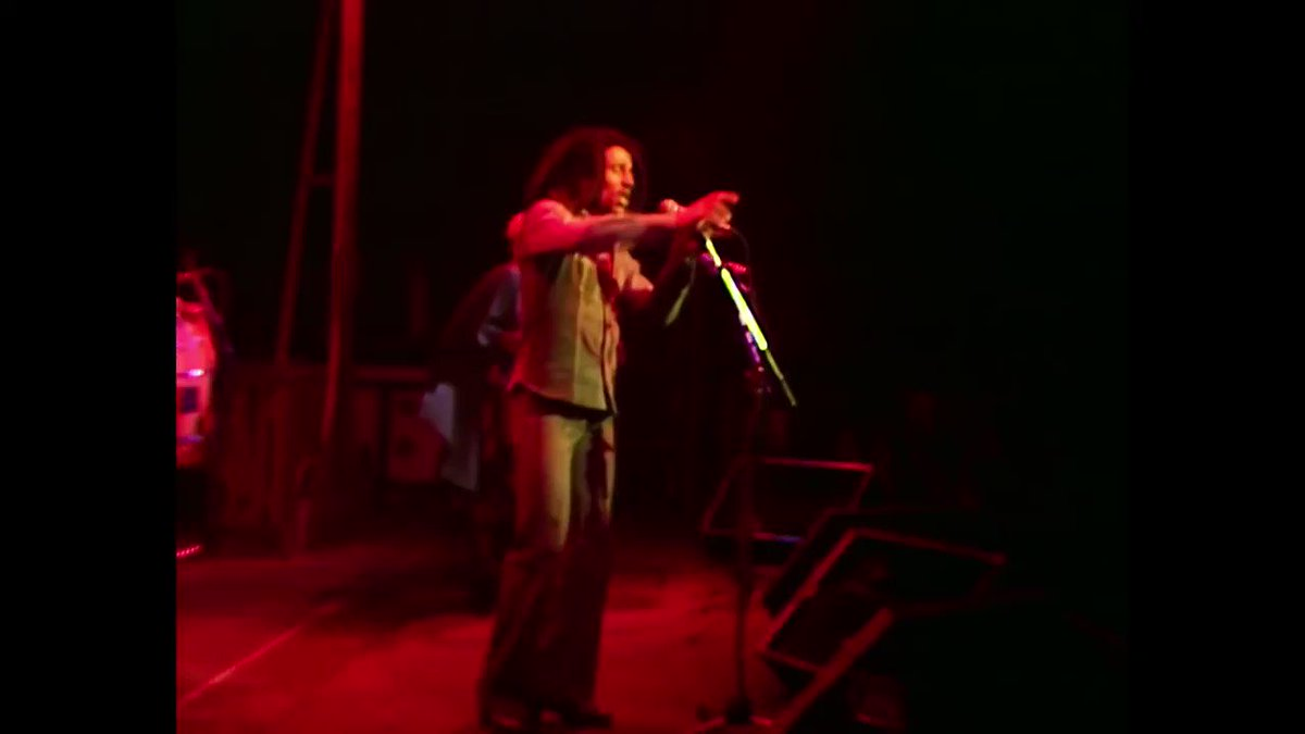 """""""Until the philosophy, which holds one race superior, and another inferior, is finally and permanently discredited and abandoned, well everywhere is war! Dis yah war."""" #WAR  🎥 #BobMarley live at the Rainbow Theatre, London 1977. 📺 https://t.co/sSsLUiBtNw https://t.co/eXNFrJOtkN"""