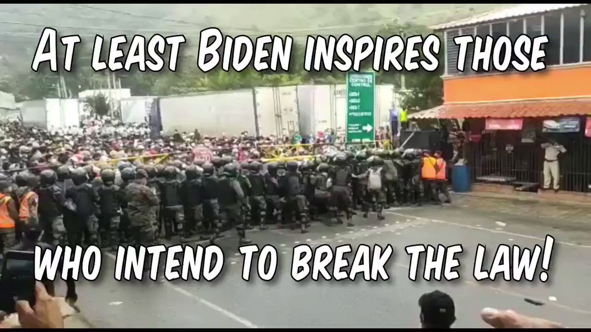 """Caravan from Honduras busts through Guatemala Border en-route to USA.  Sponsored by #MASA (Make America Socialist Again, pronounced """"massa"""").  We want the Obama/Biden policies of helping everyone except U.S. citizens, back.    We're heading for Obama's place on Martha's Vineyard!"""