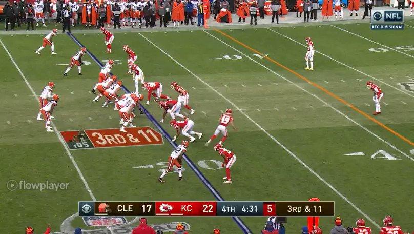 @MattBowen41 how about that rotation to Tampa-2?  #CLEvsKC #NFL #NFLPlayoffs #Browns #CHIEFSKINGDOM