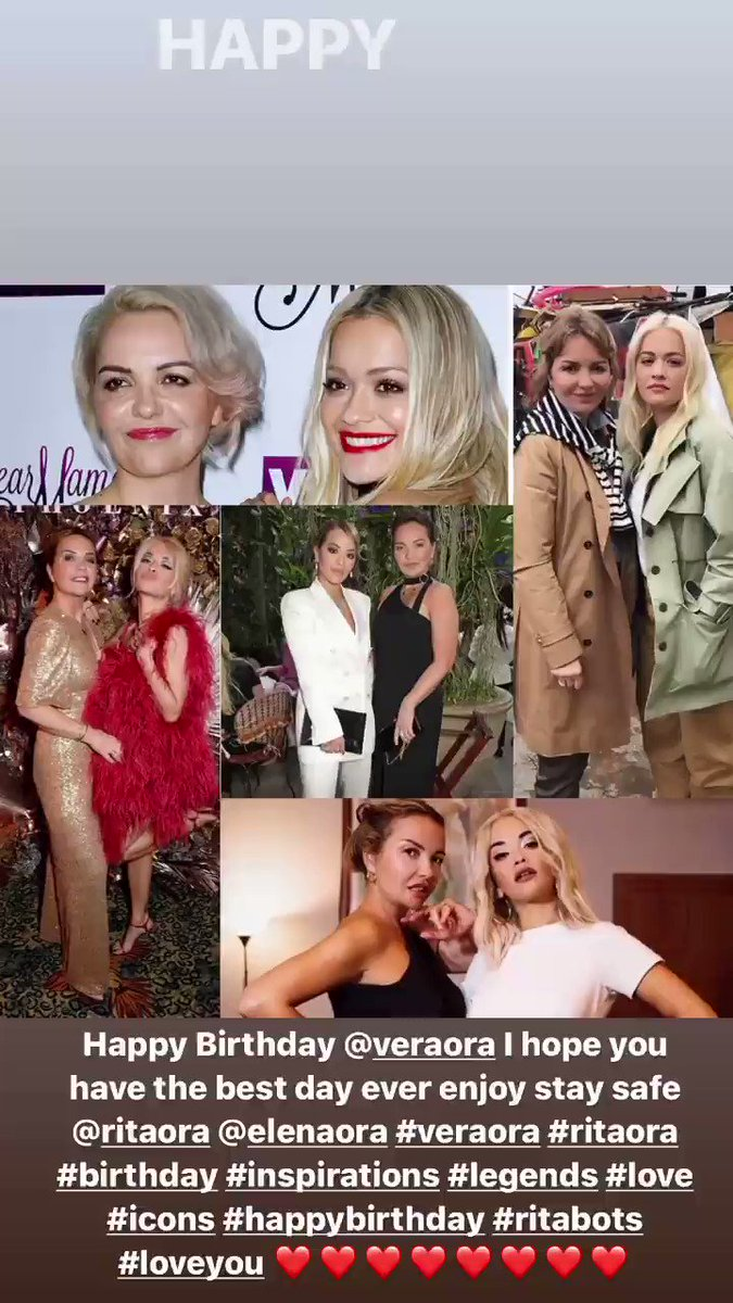 Happy Birthday @veraora I hope you have the best day ever and I hope you get lots of wonderful gifts enjoy stay safe I hope you and your family are all well @RitaOra #RitaOra #veraora #birthday #Happy #legends #inspiration #icons #queens #talented #beautiful #beauty #loveyou ❤️❤️
