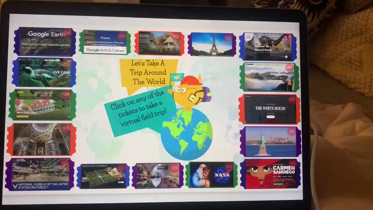 A ⭐️NEW⭐️ place for virtual field trips to share with our kids.... Lets Take A Trip Around The World @Buncee Choice Board! 🌍 buff.ly/2LGpNza #tlchat #iowatl #edchat #edtech #ISTElib #vanmeter #librarylife #iaedchat #global #virtualfieldtrips #futurereadylibs