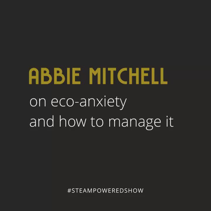 Abbie Mitchell, Environmental Educator, on eco-anxiety and how to manage it.  📺:  📻: most podcast platforms.  #steampoweredshow #womeninsteam #womeninstem #steam #stem #education #environment #treehollows #wildlifemanagement