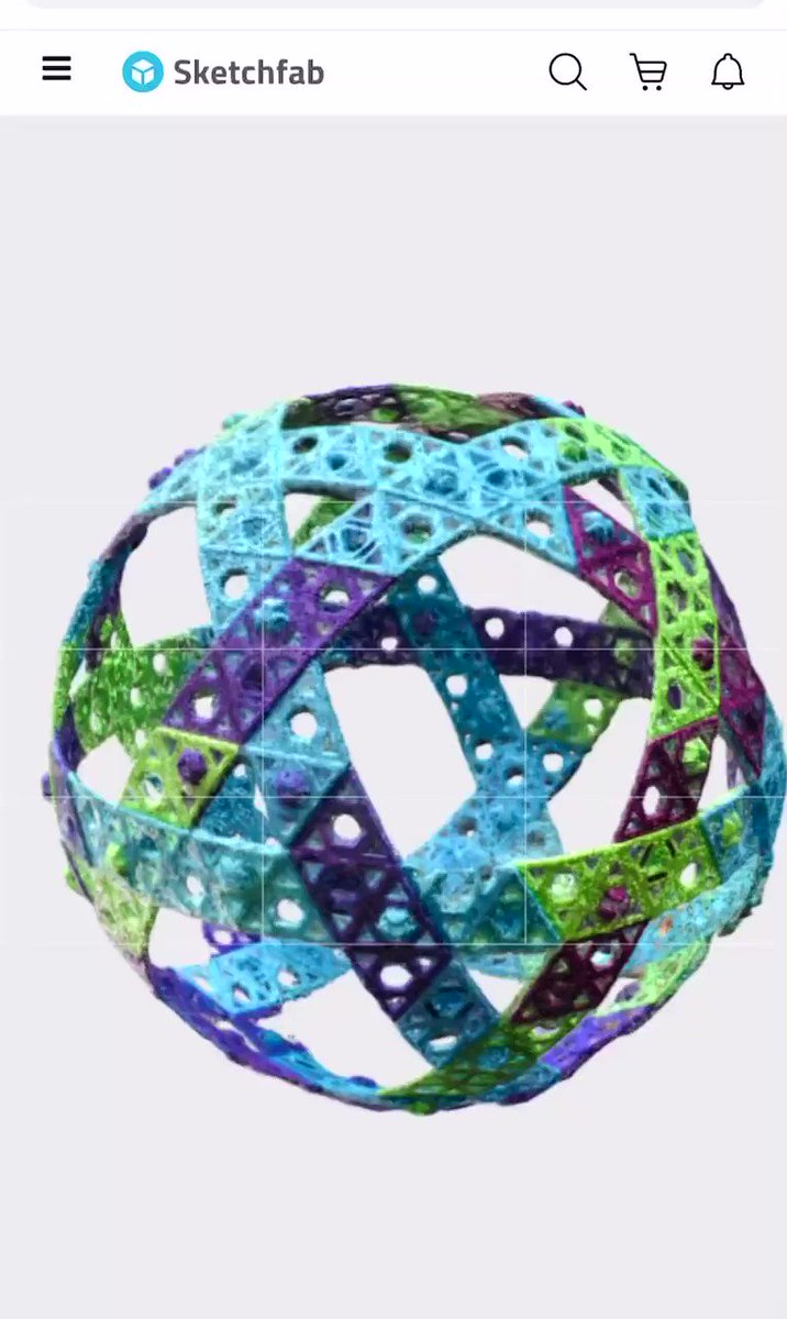 """Enter a tech contest - take a picture of yourself and our 16"""" Qubits Sphere using the #AR tool in @Sketchfab - Post your picture as a comment to this tweet    #STEM #STEAM #Majerspace #VirtualReality ##STEMed #education #AugmentedReality"""