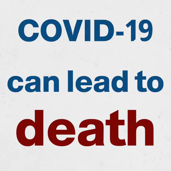 There is a common misconception that #COVID19 is harmless for younger people & those without underlying health problems or chronic disease. This has been proven wrong, as many young people, contracting the virus are left in critical condition or they die.  #TimeToAbide @WHOEMRO