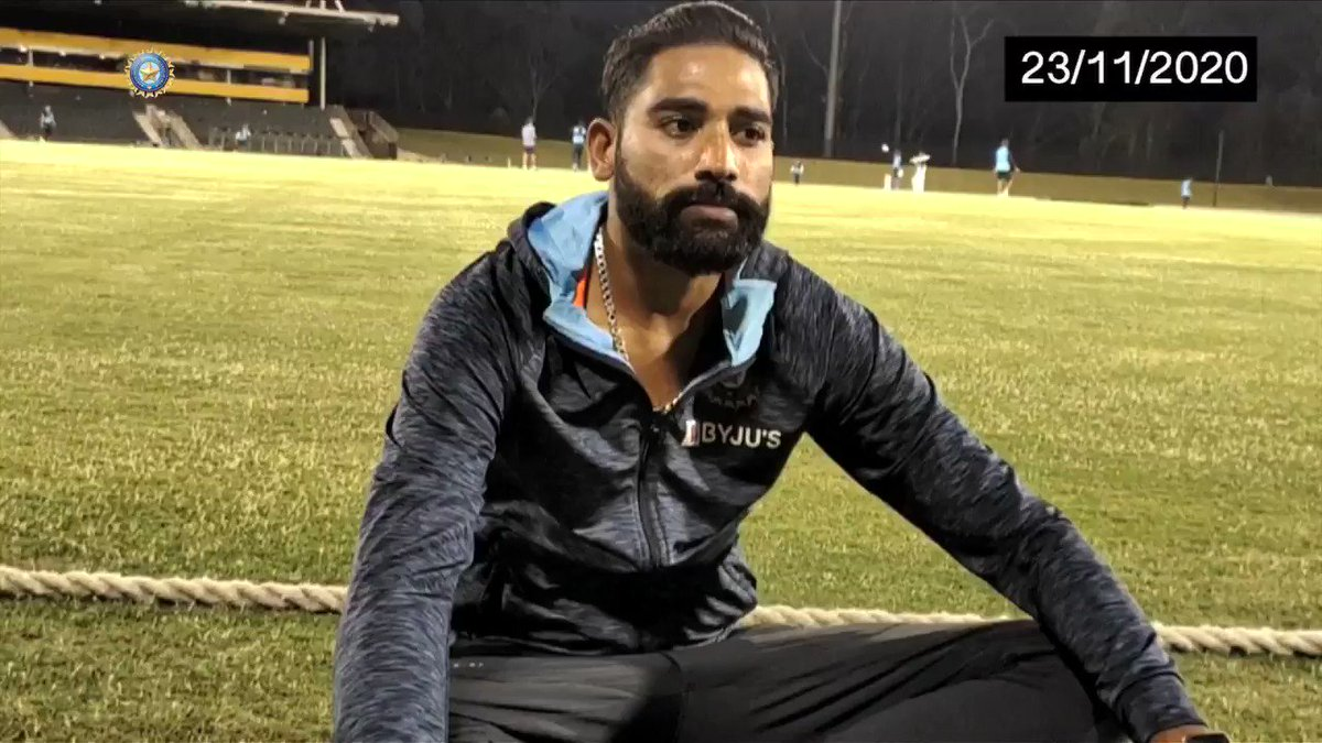 Before the Border-Gavaskar Test series, Siraj lost his father. He then made a promise to himself. Today, he fulfilled it.   Siraj, we are all very proud of you.   #TeamIndia #AUSvIND