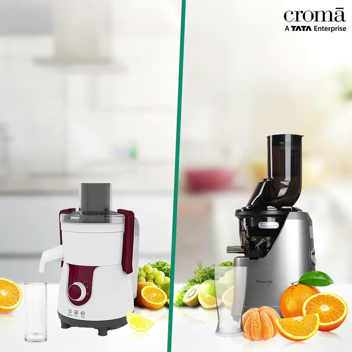 Extract the nutrients and savor the delicious cold press juices in its purest form with KUVINGS PROFESSIONAL JUICER. Buy Now :  #Croma #CromaGOD #GOD #GadgetsofDesire #Coldpressjuicer #Healthyjuices #HealthyLife #Lifestyle #Fruits
