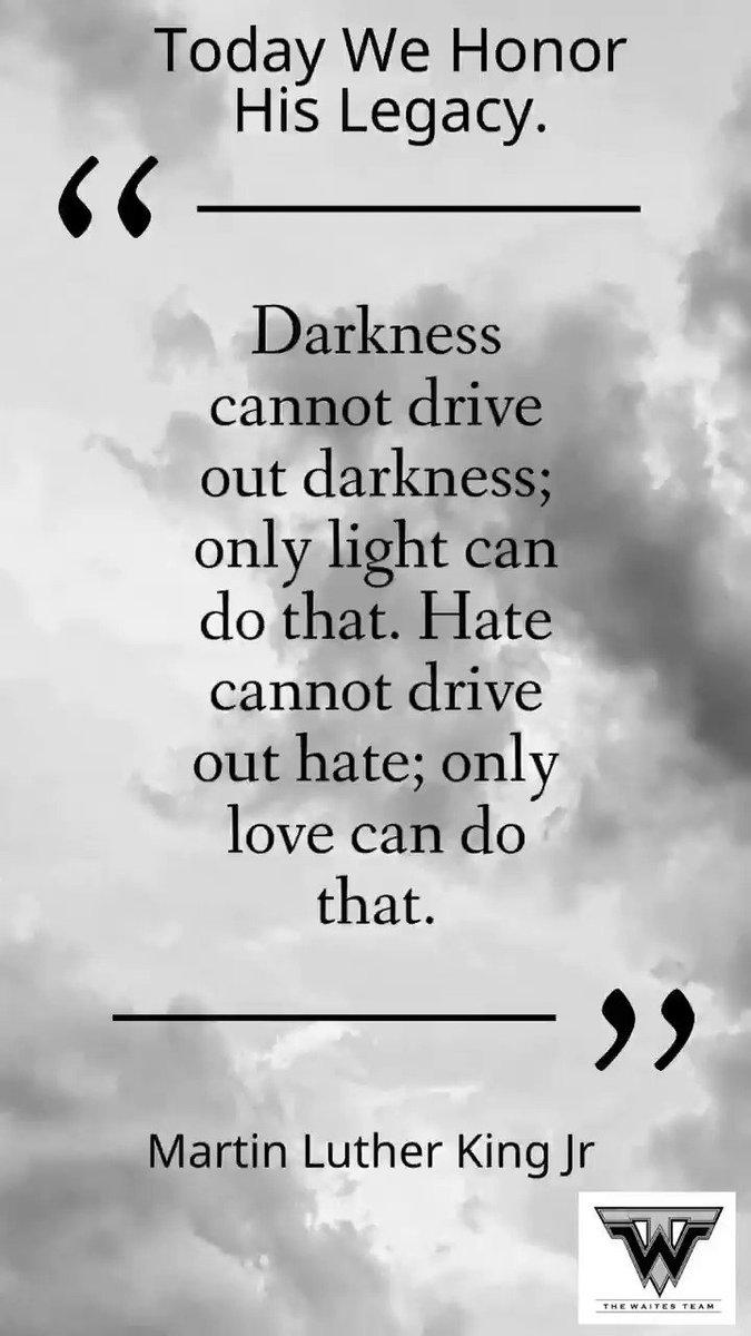 #MartinLutherKingJr #MartinLutherKingJrDay #MLK #MLKDay #IHaveADream #LoveOverHate #LightOverDarkness #MorePerfectUnion #TheWaitesTeam @thewaitesteam