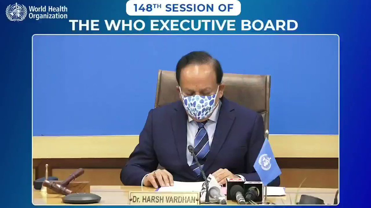 2020 has been a year of science when scientists & researchers raced against time to characterise a novel illness & deliver a vaccine against it.  At Opening Session of 148th Session of @WHO EB, applauded global science community for their remarkable achievements.  @MoHFW_INDIA