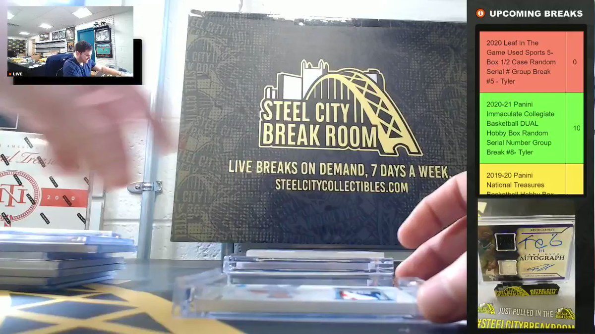 #ICYMI: Tyler pulled what might be the biggest hit ever pulled in the #SteelCityBreakRoom — the one-of-one Ja Morant Logoman Rookie Card from 2019-20 Panini Flawless Basketball!  This could have been your card! Join our future group breaks here: