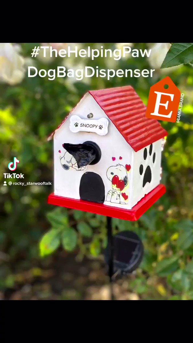 Your own adorable dog poop bag dispenser at your finger tips! #thehelpingpawdogbagdispenser
