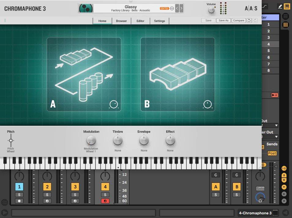 Polyend Trackerでソフトシンセ演奏してみました。MIDI CCを適当に割り当ててLearnさせるとエフェクトも割と自由に書けます