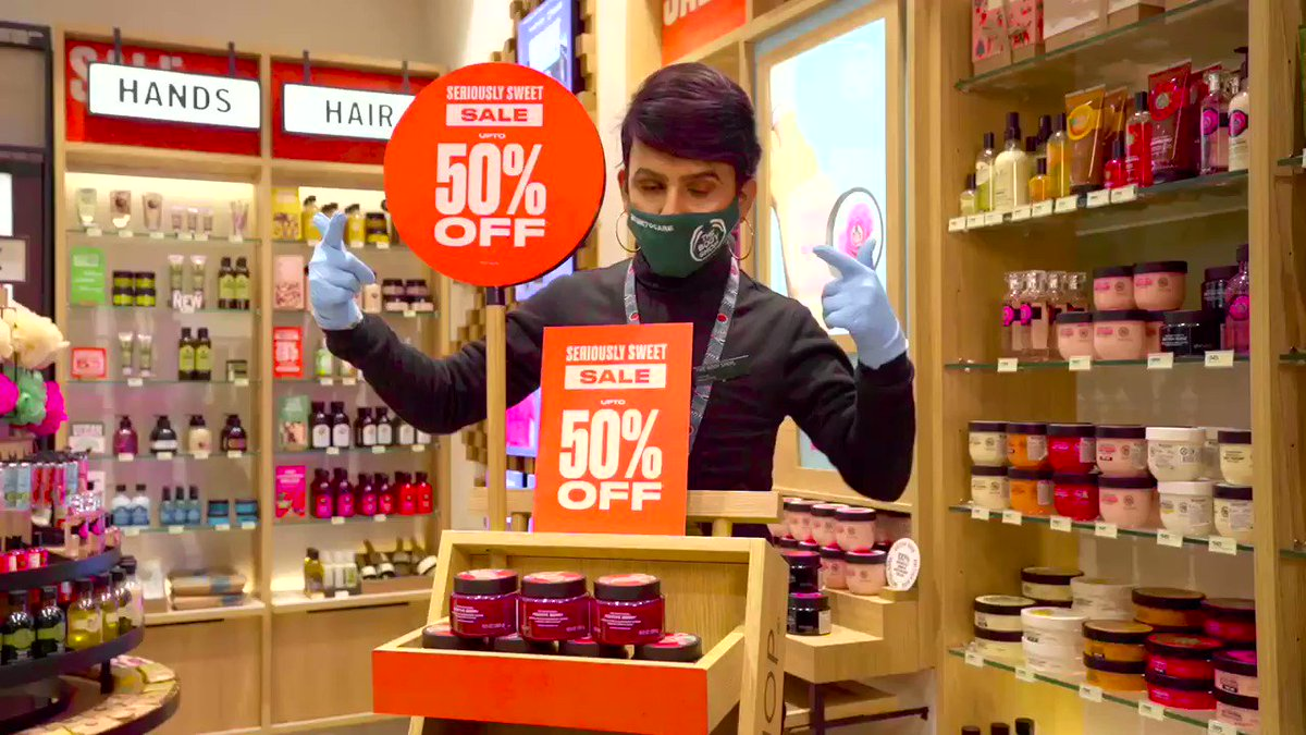 We bring your favourite beauty & body care treats at #Saletastic prices with up to 50% OFF in our Seriously Sweet Sale. Head to your nearest The Body Shop store for a safe & sanitized shopping experience. Order online or call us on +91-7042004412 to get them delivered. #TBSInd