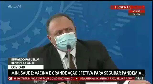 Replying to @rehventura: Pazuello tirando a máscara pra OUVIR melhor a jornalista