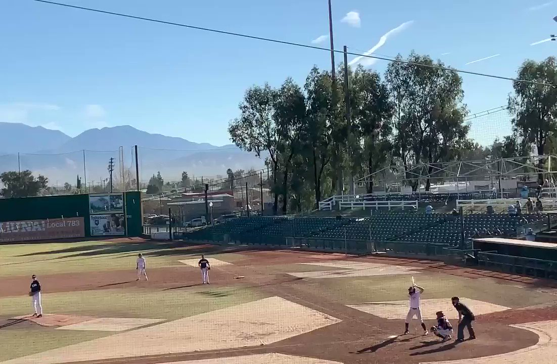 "Jacob Klinovsky 2B off of the RF Wall at San Manuel Stadium Claremont HS | Claremont, CA 2021 Grad Swing L / Throw R C, OF, 1B 6' 2"" | 185lbs @brgscoutball @theprospipeline @hpusharks @ReggieSmithAth  #Baseball #Double"
