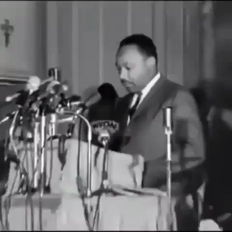 """Martin Luther King Jr and Mahalia Jackson at a Chicago church in 1966. Absolutely amazing! ❤️ The song is entitled """"Joshua Fit the Battle of Jericho""""   #mlkday #martinlutherking #mahaliajackson"""