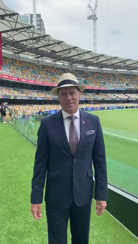 Over 120 mls (!!) of rain overnight according to our resident weatherman @JaseRicho, but it's all set for an on time start 👌 #AUSvIND