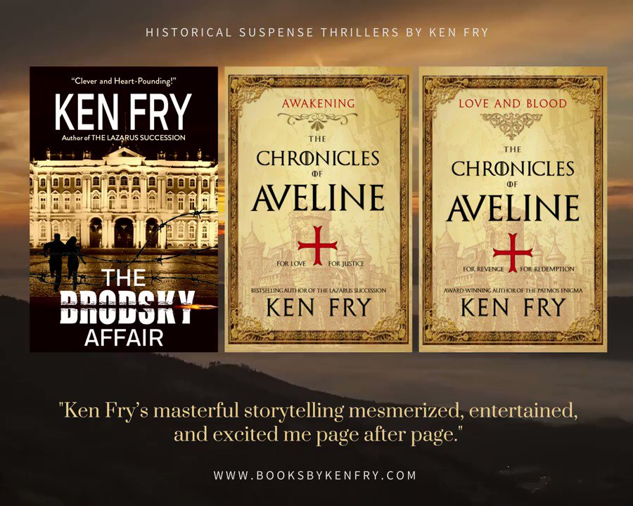 An epic story set in medieval times? A modern #thriller with a touch of history? Check out these novels by Ken Fry. 👉 All #FREE w/ #kindleunlimited  @KenFry10  #Bookworms #mustread #histfic #amreading #kindlebooks #books #BookBoost #IAN1 #readers