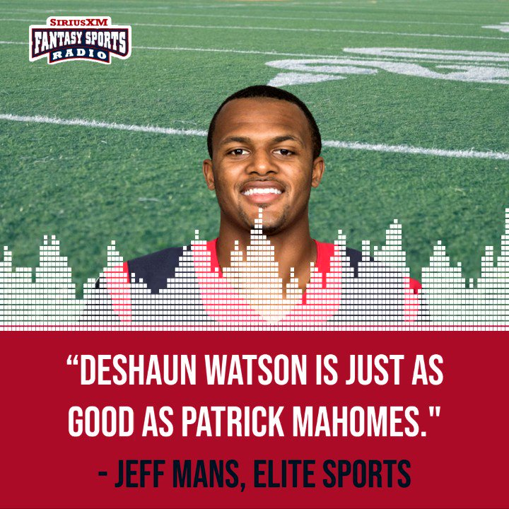 Is Deshaun Watson on the same level as Patrick Mahomes?  Where would you like to see the #Texans quarterback land?  @Jeff_Mans discusses on Elite Sports!  #FantasyFootball 🎙️🏈🎧 ⬇️