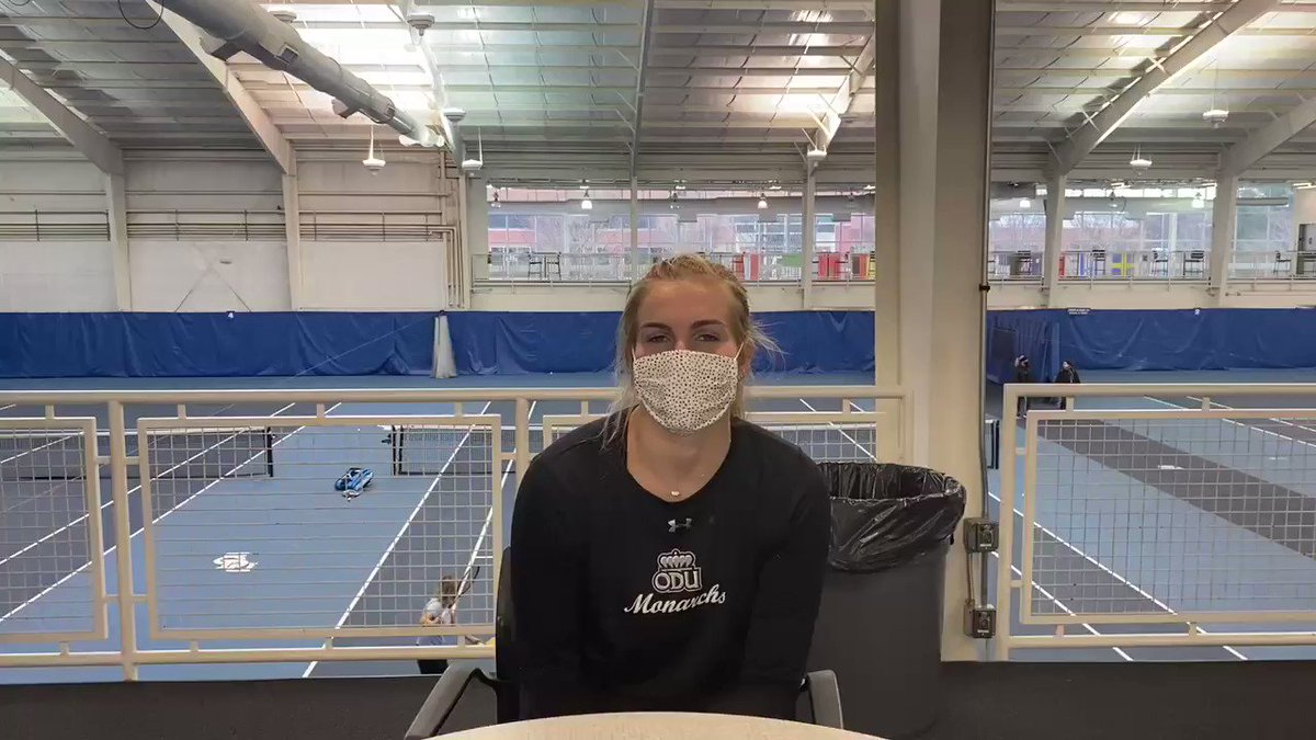 """""""It's so wild to me that I grew up here and these have been my home courts forever. I use to idolize all the ODU Tennis Players and watch all of them. It's weird that I am now one of them and get to wear the uniform, but it's obviously pretty cool to wear it."""" -@bnpilkington16"""