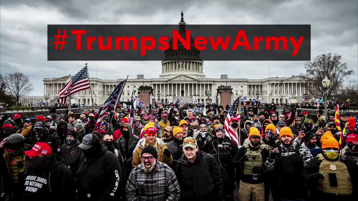 NEW VIDEO  #TrumpsNewArmy    VOLUME UP    On January 20th Donald Trump will no longer be The Commander in Chief.   He will lose control of the U.S. Armed Forces and take control of a NEW ARMY.