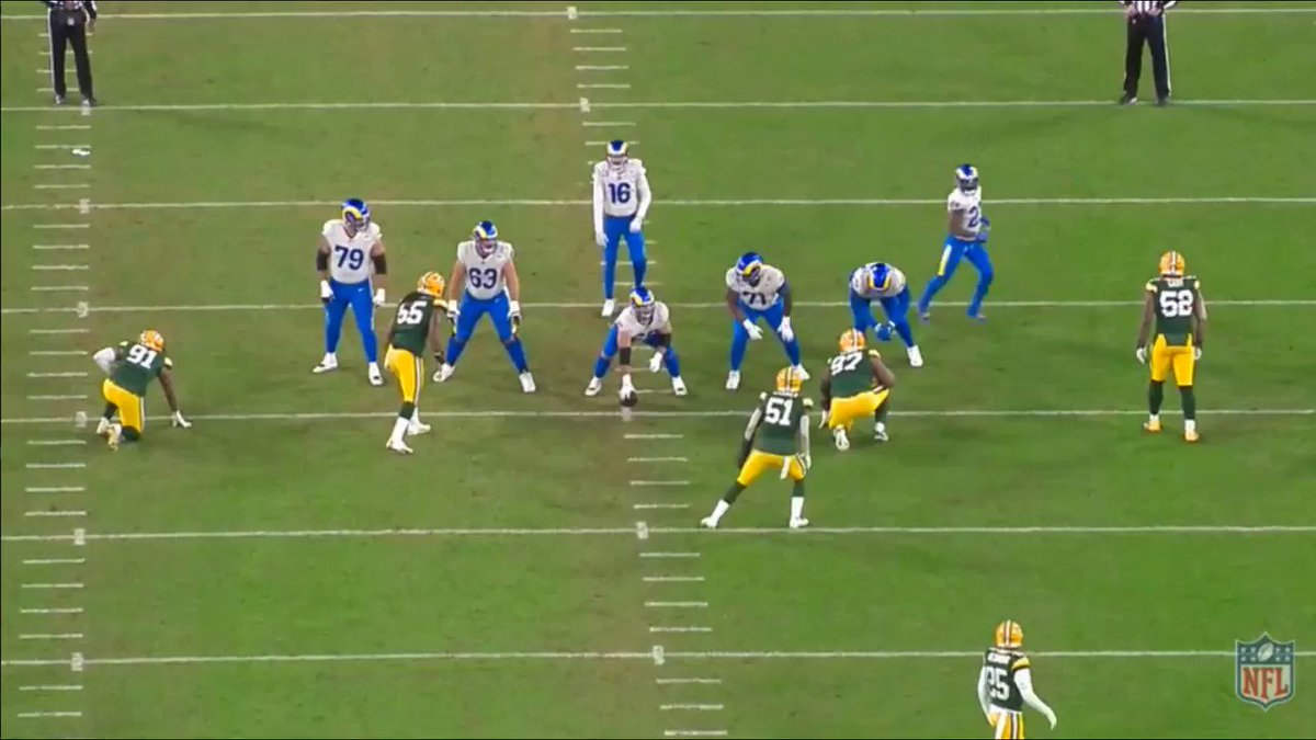 Expect Mike Petrine to dial it up EARLY on money downs.  Watch Kenny Clark and Rashan Gary on this EXIT game on the right.  If they can connect on these consistently, it will be a long day for the Bucs.   #NFCChampionship