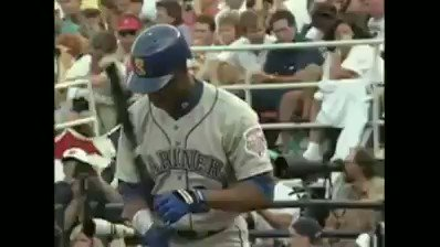 Ken Griffey Jr hits a homerun off of Greg Maddux in the all star game