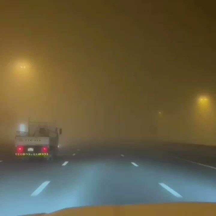 يرجى اخذ الحيطة والحذر ضباب الان على الطرق المؤدية الى أبوظبي ودبي والظفرة #الامارات #مركز_العاصفة  ١٩ يناير ٢٠٢١
